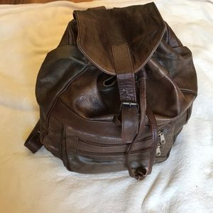 Handbags - Argentinian Brown Leather Backpack